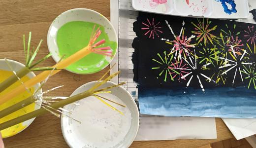 【夏休みの絵の描き方】小学一年生・二年生でも簡単に描ける題材