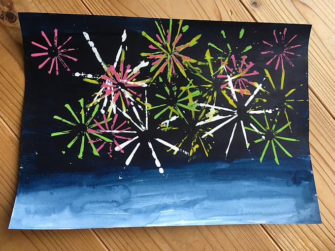 花火 絵 描き方 簡単