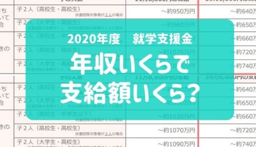 【2020年度の就学支援金】年収いくらで支給額いくらもらえるの?